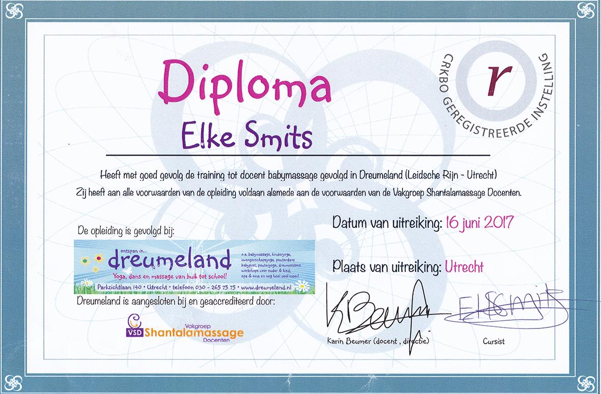 Docent Babymassage Diploma